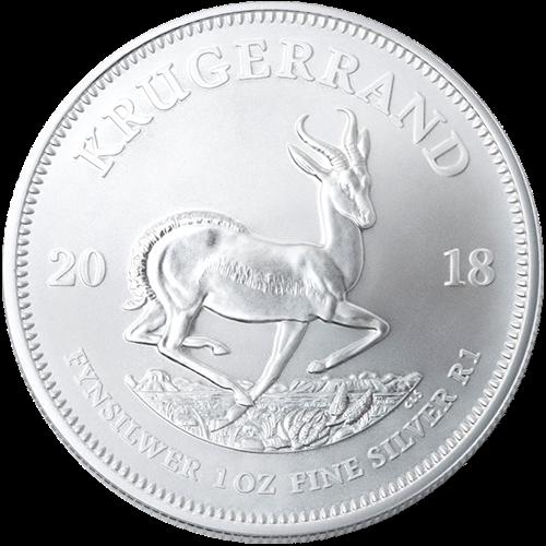 1 oz South African Silver Krugerrand Coin BU (Random Year)