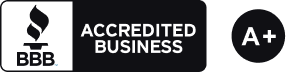 BBB Accredited Business Rating: A+ Logo
