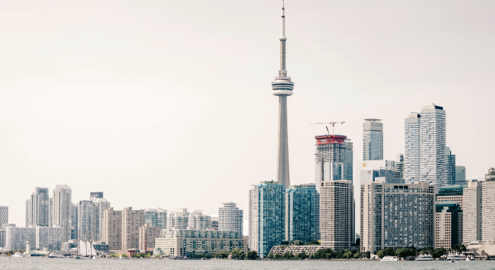 Distant view of the city of Toronto